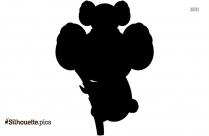 Baby Koala Silhouette Vector