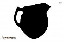 Terracotta Bowls Silhouette Illustration
