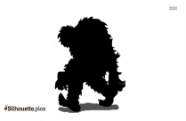 Black And White Bigfoot Drawing Silhouette
