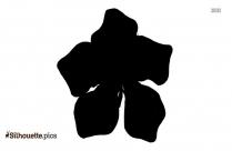 Caribbean Flower Silhouette Clip Art