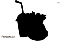 Black And White Cartoon Food Silhouette