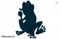 Cartoon Frog Silhouette Clipart Illustration