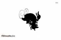 Black Piranha Fish Drawing Silhouette