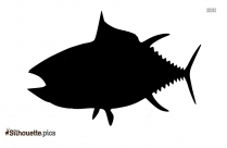 Cartoon Fish Silhouette Image, Outline