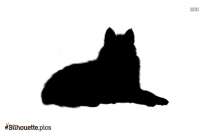 Black And White Cartoon Wolf Silhouette