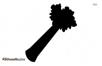 Black And White Celery Silhouette Picture
