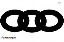 Black And White Chain Circle Silhouette