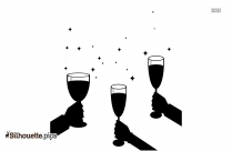 Champagne Glasses Silhouette Vector And Graphics