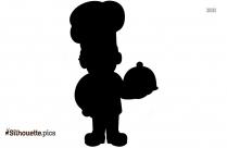Black And White Chef Clipart Silhouette