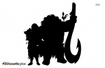 Black And White Chief Tui Character Silhouette