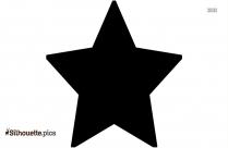 Black And White Christmas Star Silhouette Illustration