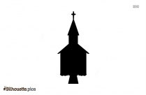 Black And White Church Building Silhouette