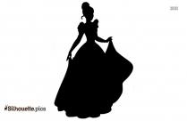 Cinderella Cartoon Silhouette Image