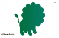 Black And White Circus Lion Silhouette, Circus Animals Cartoon Vector Icon