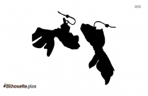 Clip On Hoop Earrings Silhouette Free Vector Art
