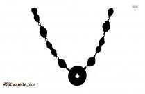 Cloisonne Necklace Silhouette Art