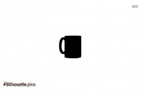 Black And White Coffee Mug Silhouette