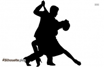 Black And White Couple Dancing Silhouette