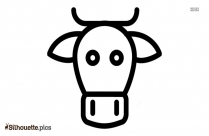 Cartoon Cow Silhouette Background Vector