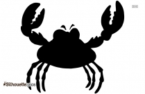 Black And White Crab Silhouette