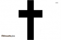 Black And White Cross Silhouette Vector And Graphics