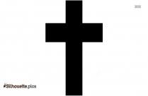 Cartoon Vintage Cross Silhouette