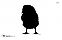 Chick With Raincoat Silhouette