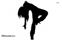 Black And White Dancer Image Silhouette
