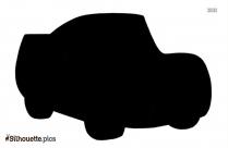 Cartoon Car Silhouette Vector Pic
