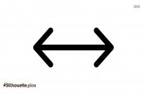 Free Vertical Arrows Silhouette