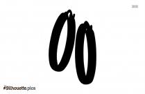 Small Hoop Earring Silhouette Free Vector Art