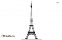 Black And White Eiffel Tower Silhouette Art