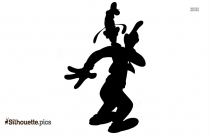 Black And White Evil Goofy Silhouette