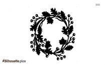 Black And White Fall Wreath Silhouette
