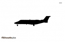 Black And White Fighter Jet Side View Silhouette