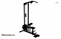Gym Equipment Silhouette Clipart