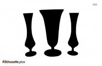 Black And White Flower Vase Silhouette