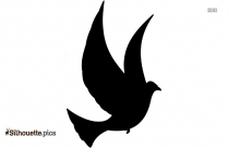 Flying Bird Outline Silhouette Background
