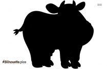 Mad Cow Cartoon Silhouette Illustration