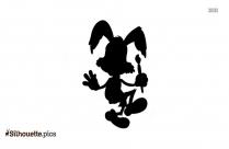 Cute Bunny Silhouette Clip Art Image