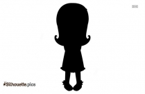 Little Girl Silhouette Background Picture