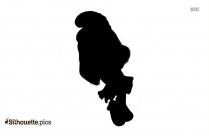 Hefty Smurf Silhouette Free Vector Art