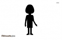 Black And White Girl Standing Alone Silhouette