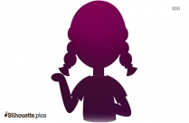 Black And White Girl Vector Silhouette