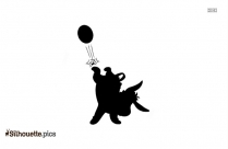 Black And White Goofy Soccer Silhouette
