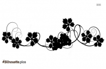 Black And White Grape Vine Silhouette