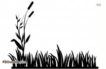 Grass Field Silhouette Free Vector Art