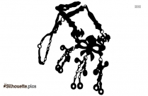 Vintage Gypsy Jewelry Silhouette Illustration