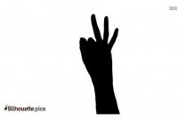 Open Hands Silhouette Art