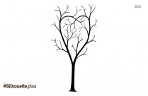 Tree Drawing Silhouette Image